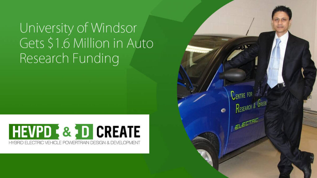 University of Windsor Gets $1.6 Million in Auto Research Funding